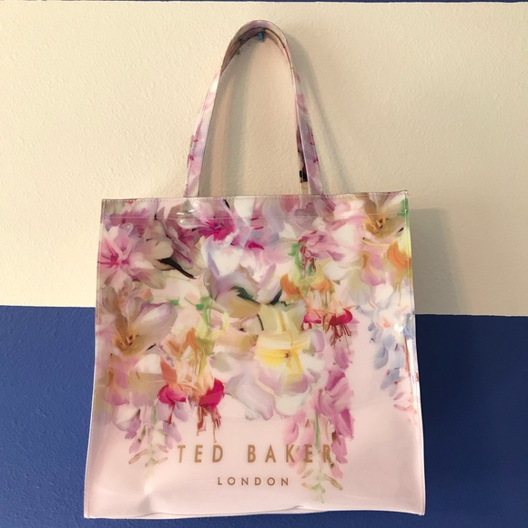 2c708d197201b Ted Baker Pink Floral Print Icon Tote - NWT